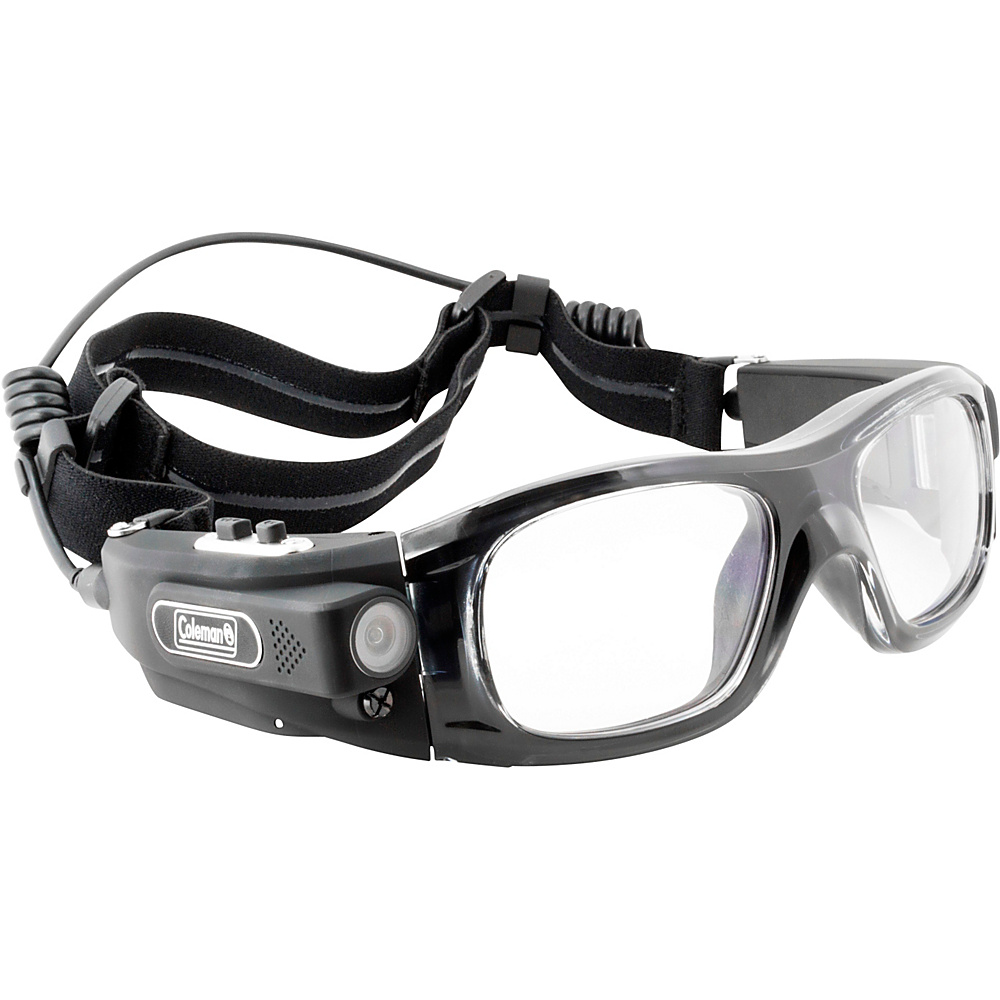 Coleman VisionHD 1080p HD 5.0 MP Wearable POV Sports Digital Camera Video Safety Goggles Black Coleman Wearable Technology