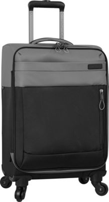 Nautica Harpswell 19 inch Expandable Spinner Carry on Grey/Black - Nautica Softside Carry-On
