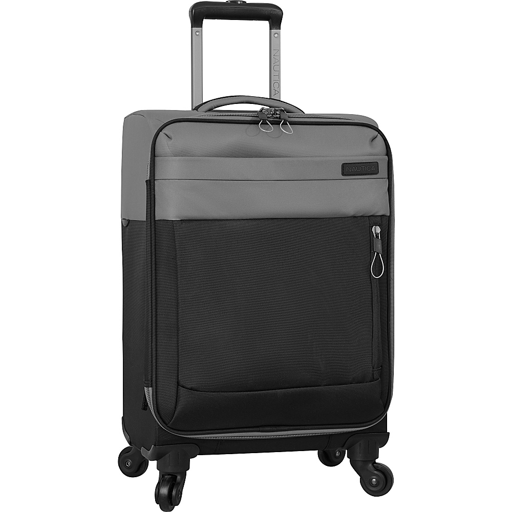 Nautica Harpswell 19 Expandable Spinner Carry on Grey Black Nautica Softside Carry On