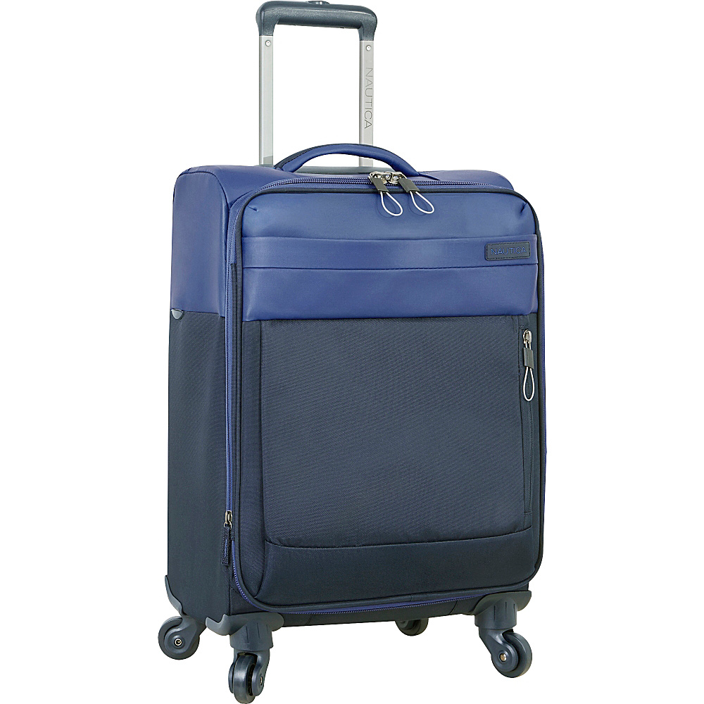Nautica Harpswell 19 Expandable Spinner Carry on Blue Nautica Softside Carry On