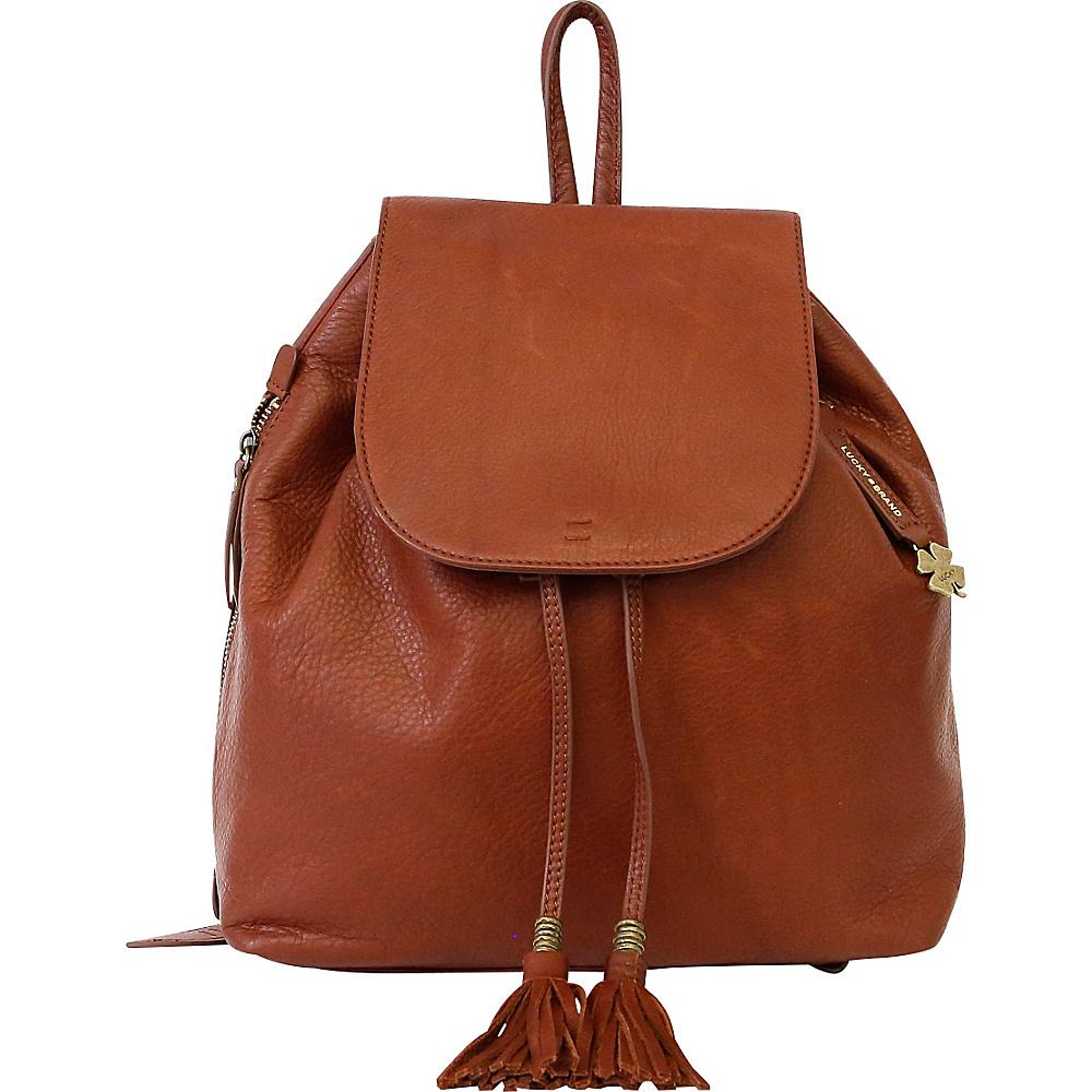 Lucky Brand Nyla Backpack Brandy - Lucky Brand Leather Handbags