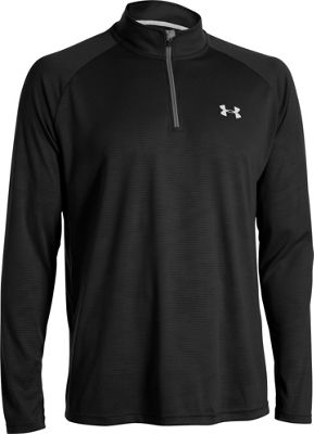 Under Armour UA Tech 1/4 Zip S - Black/White - Under Armour Men's Apparel