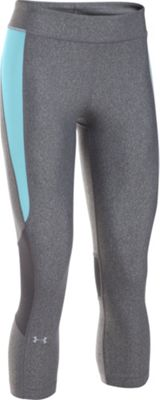 Under Armour HeatGear Armour Crop XS - Carbon Heather/Maui - Under Armour Women's Apparel
