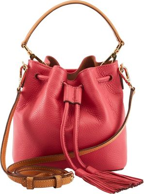 TUSK LTD Billie Small Drawstring Crossbody Coral - TUSK LTD Leather Handbags