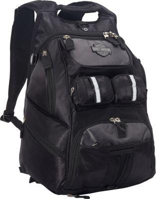 Harley Davidson by Athalon Harley Davidson All Terrain Backpack Black - Harley Davidson by Athalon Business & Laptop Backpacks