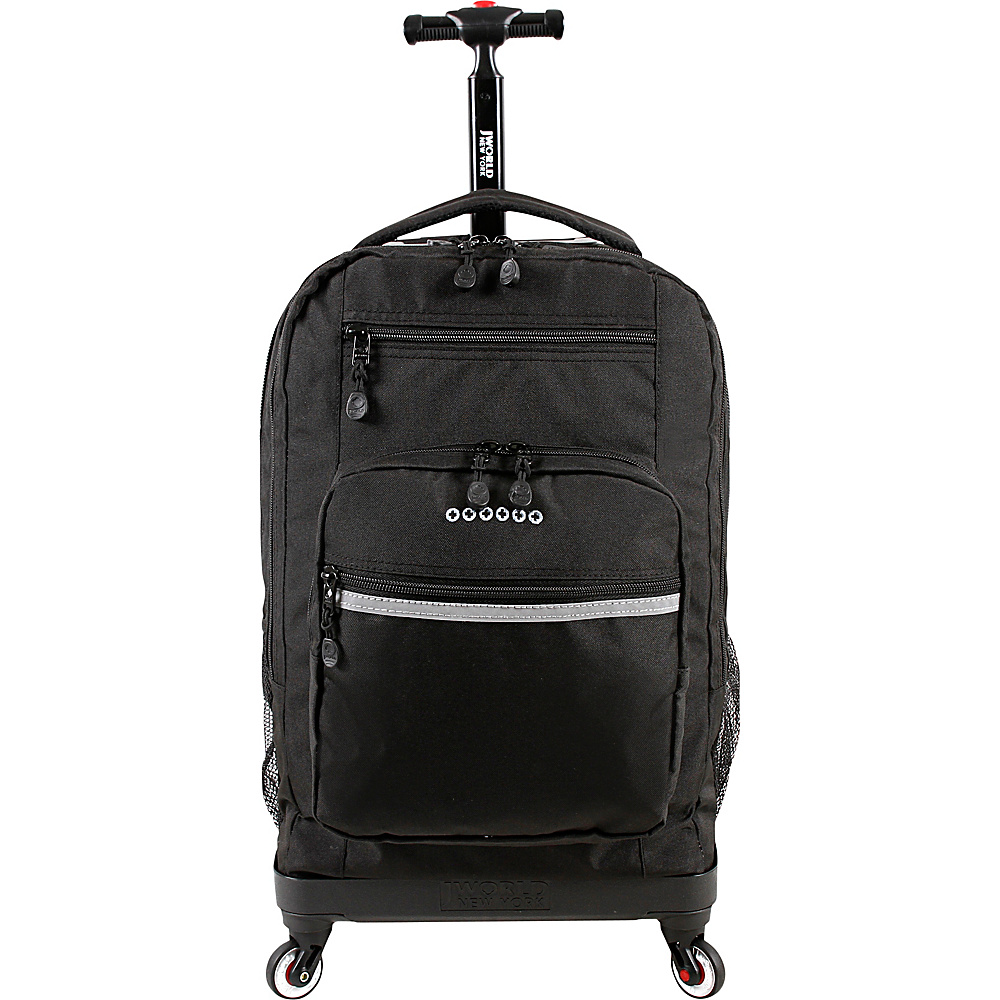 J World New York Sundance Spinner Rolling Backpack Black - J World New York Rolling Backpacks - Backpacks, Rolling Backpacks