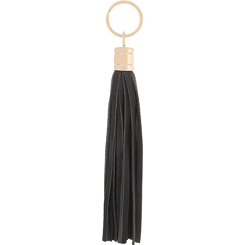 Vicenzo Leather Gia Leather Tassel Key Chain Black - Vicenzo Leather Women's SLG Other