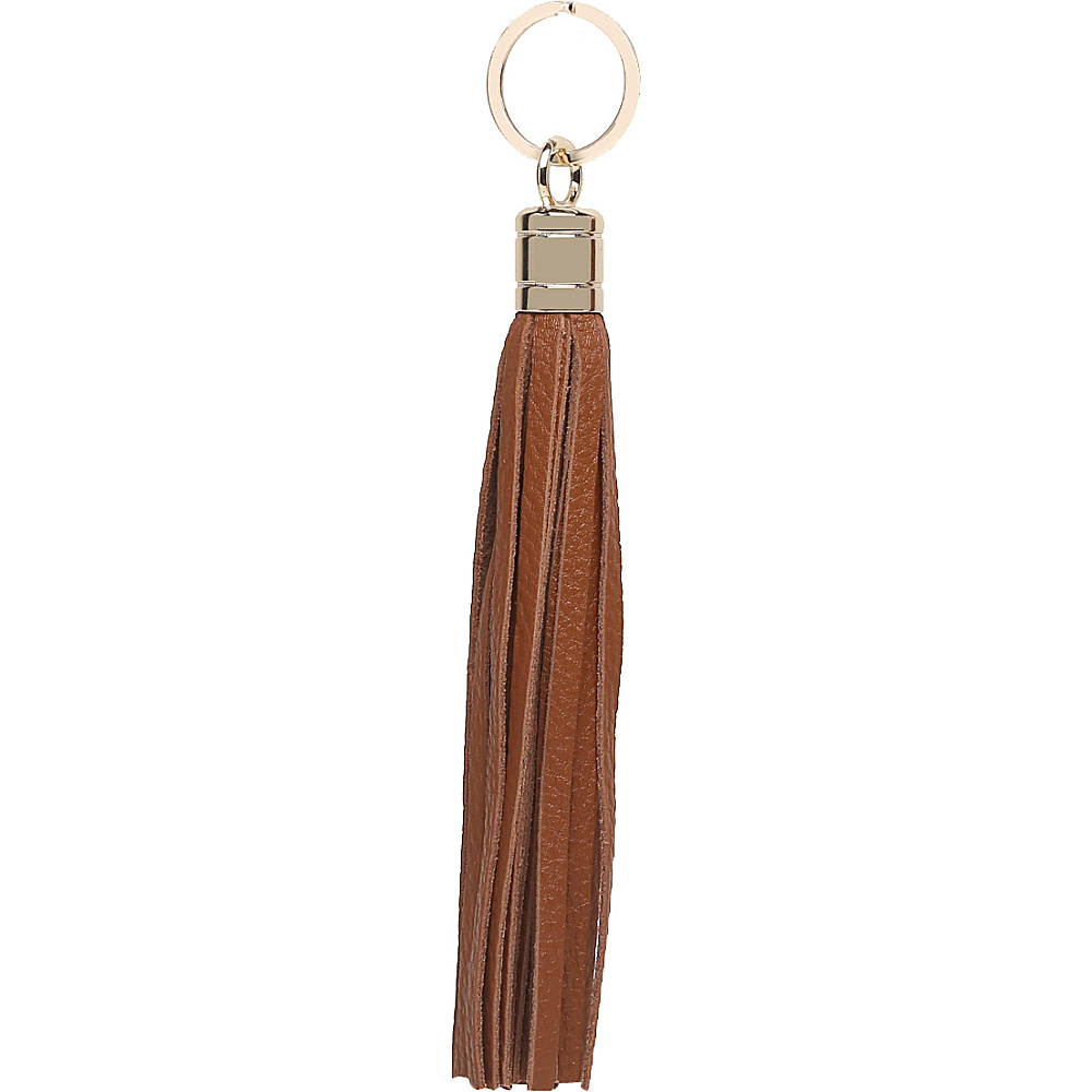 Vicenzo Leather Gia Leather Tassel Key Chain Brown - Vicenzo Leather Women's SLG Other