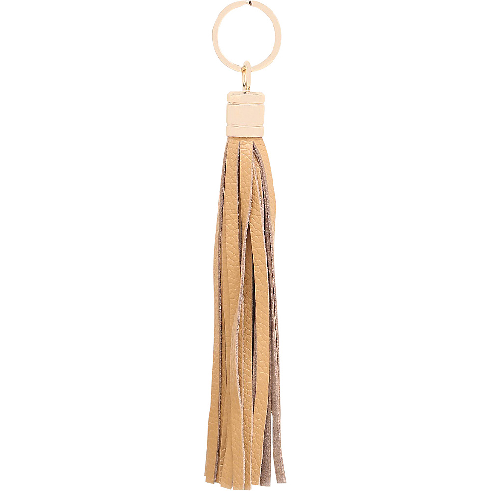 Vicenzo Leather Gia Leather Tassel Key Chain Tan - Vicenzo Leather Women's SLG Other