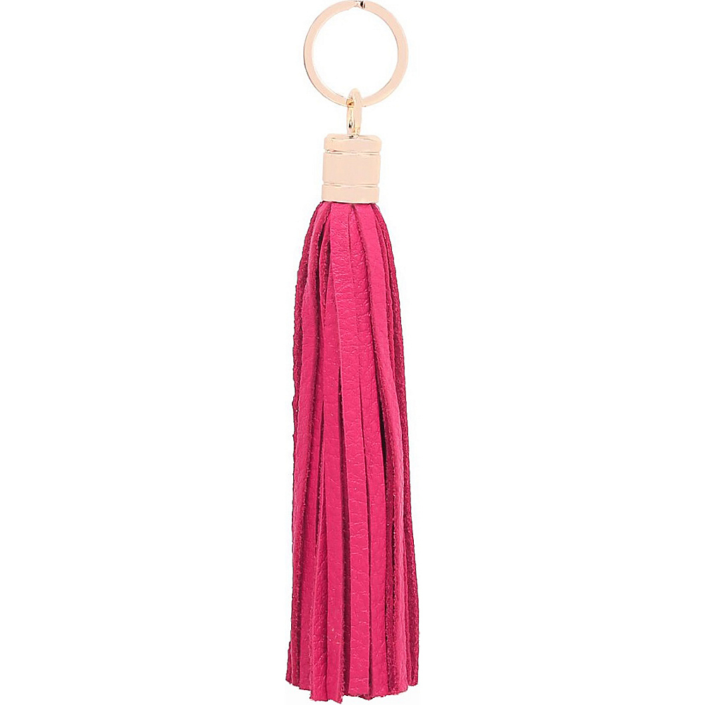 Vicenzo Leather Gia Leather Tassel Key Chain Red - Vicenzo Leather Women's SLG Other