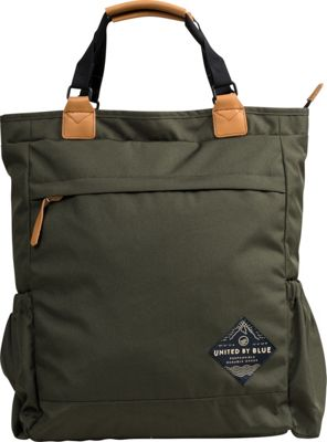 United by Blue Summit Convertible Tote Pack Olive - United by Blue Everyday Backpacks