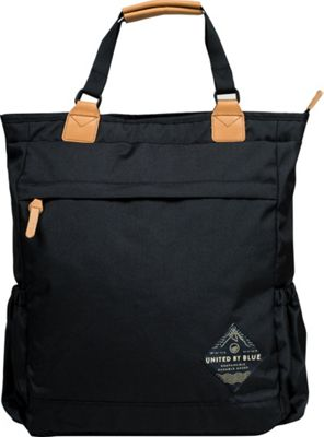 United by Blue Summit Convertible Tote Pack Black - United by Blue Everyday Backpacks