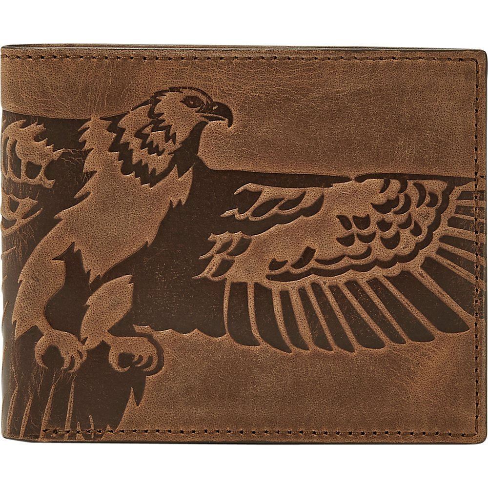 Fossil Eagle Bifold and Keyfob Gift Set Brown - Fossil Mens Wallets - Work Bags & Briefcases, Men's Wallets