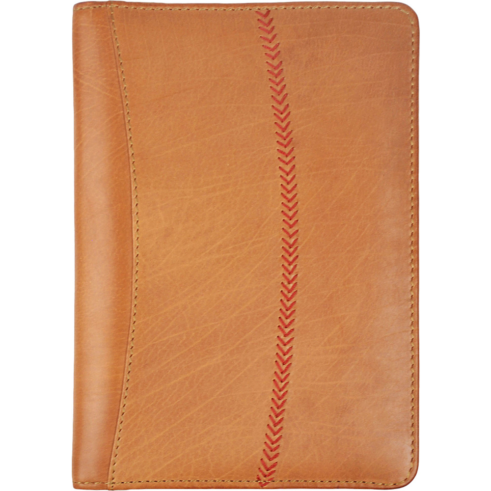 Rawlings Baseball Stitch Mini Padfolio Tablet Case Cognac Rawlings Business Accessories