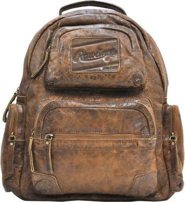 Rawlings Origins Backpack Glove Brown - Rawlings Laptop Backpacks