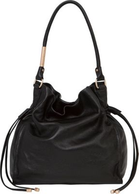 Foley + Corinna Foley + Corinna Faye Large Drawstring Hobo Black - Foley + Corinna Designer Handbags