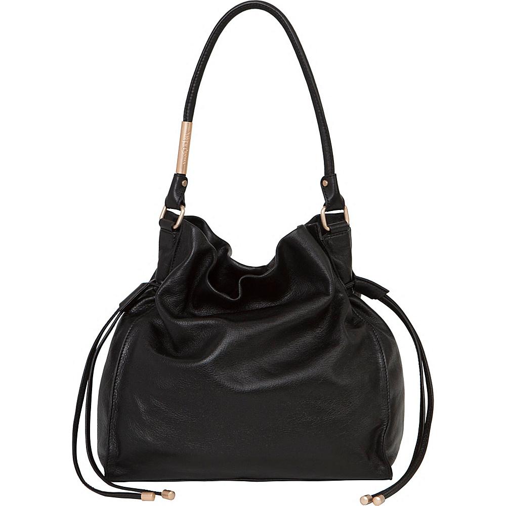 Foley Corinna Faye Large Drawstring Hobo Black Foley Corinna Designer Handbags