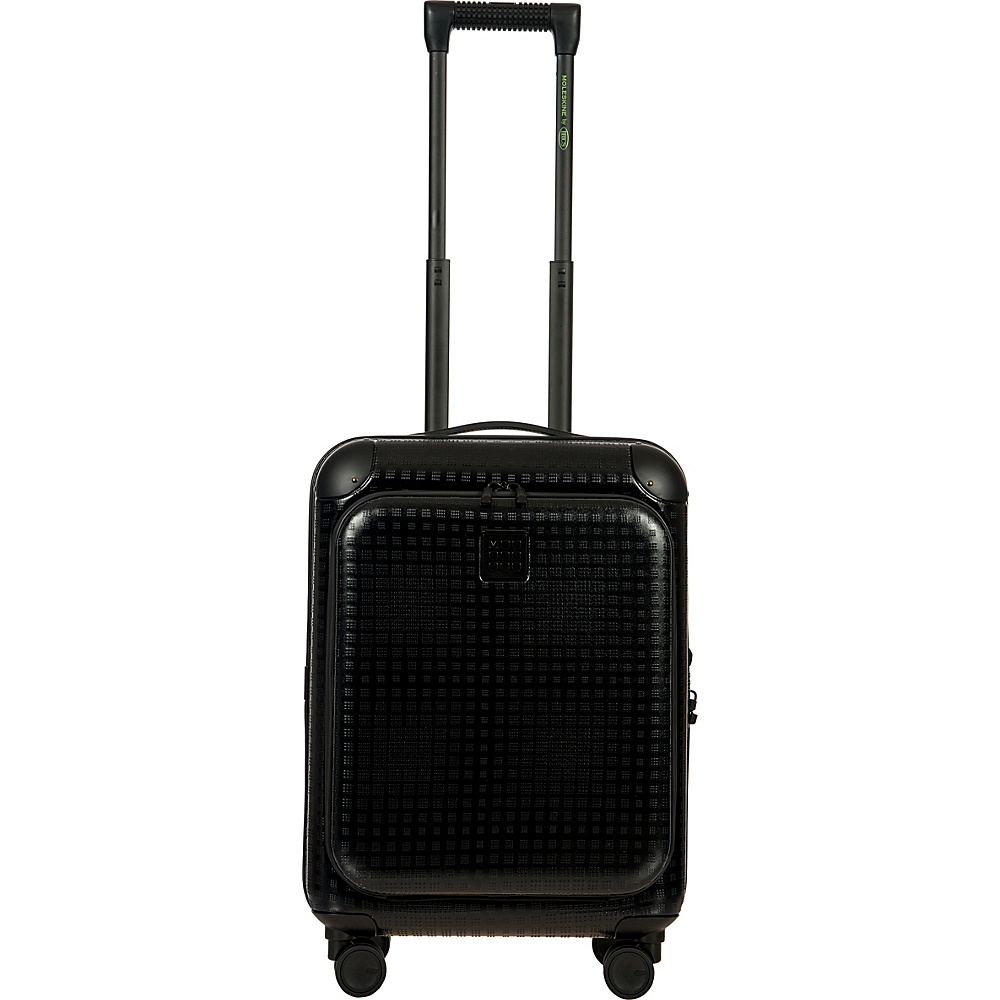 BRIC S Moleskine 21 Carry On Polycarbonate Pocket Spinner Black BRIC S Hardside Carry On