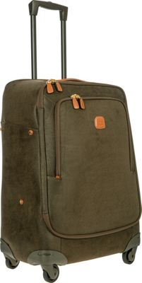 BRIC'S Life 26 inch Light Spinner Olive - BRIC'S Softside Checked