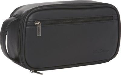 Ben Sherman Luggage Mayfair Collection Bucket Style Zip Around Travel Kit Black - Ben Sherman Luggage Toiletry Kits