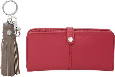 Tignanello RFID Fashion Wallet Bundle - Exclusive Raspberry/Shiitake - Tignanello Women's Wallets