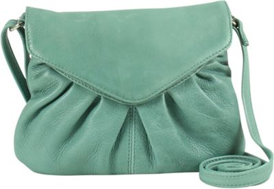 Day & Mood Elderflower Crossbody Dusty Green - Day & Mood Leather Handbags