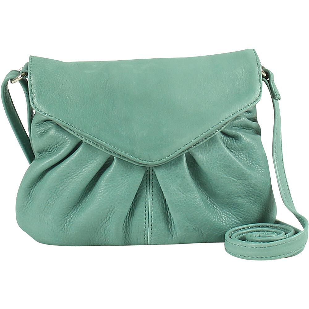 Day Mood Elderflower Crossbody Dusty Green Day Mood Leather Handbags