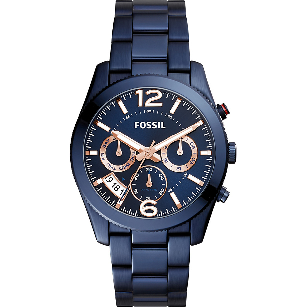 Fossil Perfect Boyfriend Sport Multifunction Stainless Steel Watch Blue - Fossil Watches - Fashion Accessories, Watches