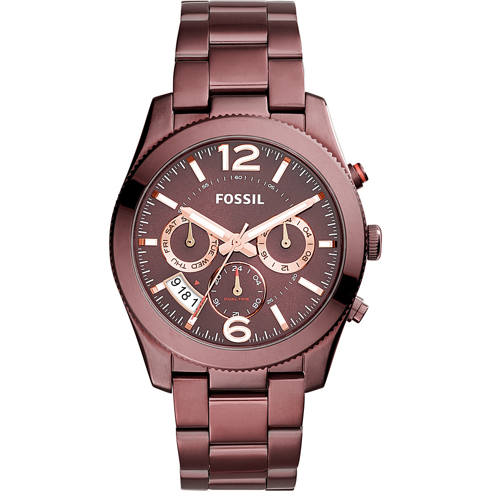 Fossil Perfect Boyfriend Sport Multifunction Stainless Steel Watch Red - Fossil Watches - Fashion Accessories, Watches