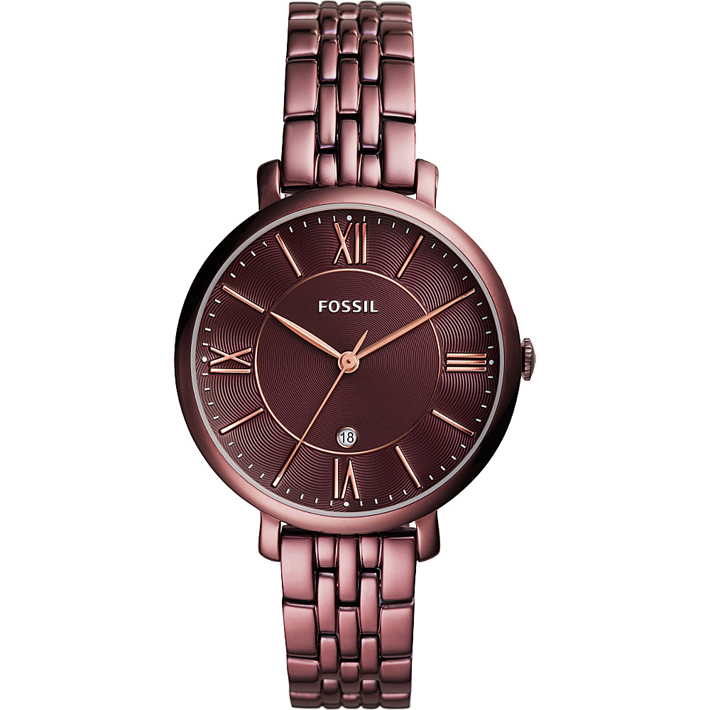 Fossil Jacqueline Three-Hand Stainless Steel Watch Red - Fossil Watches - Fashion Accessories, Watches