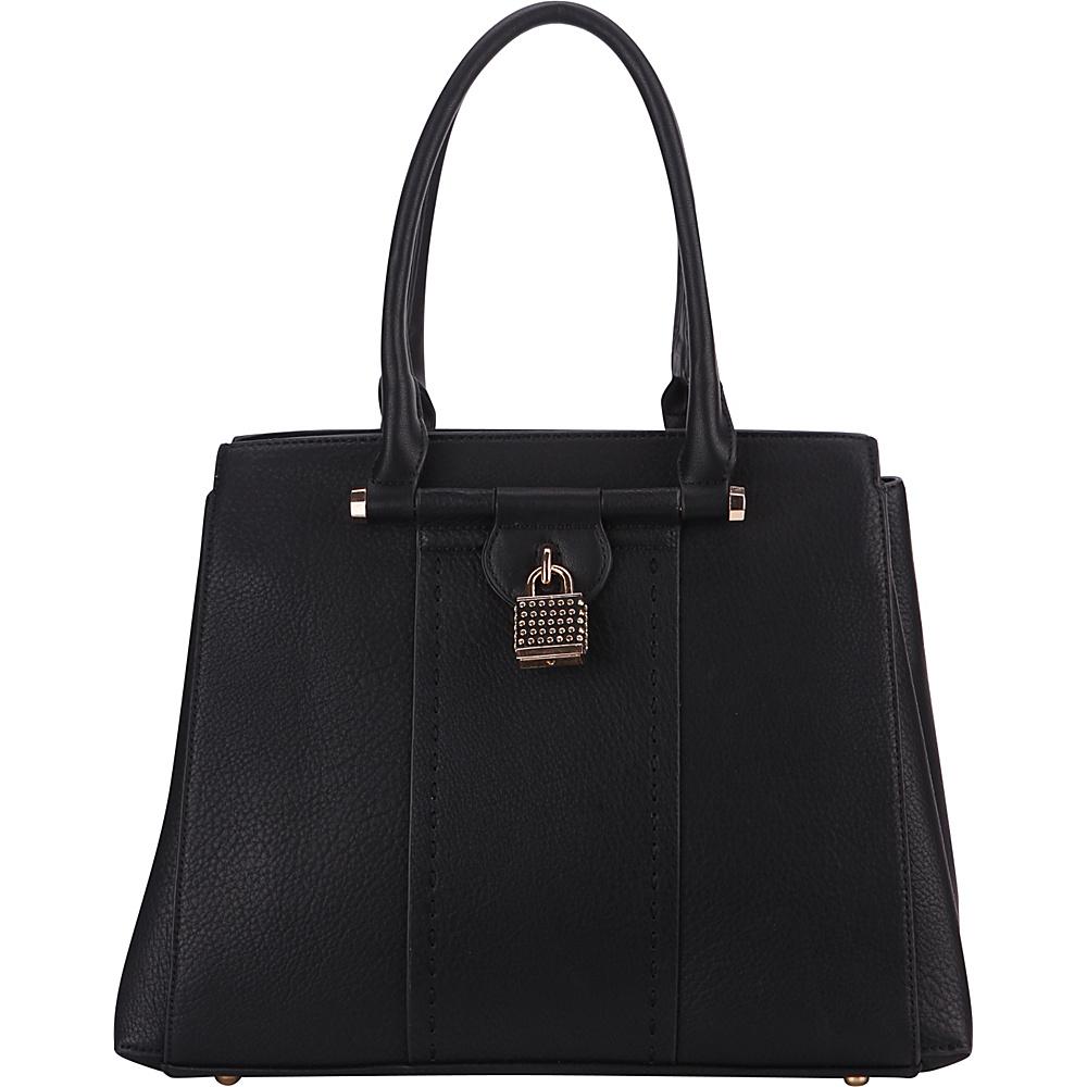 MKF Collection by Mia K. Farrow Tansy Padlock Satchel Black - MKF Collection by Mia K. Farrow Manmade Handbags - Handbags, Manmade Handbags