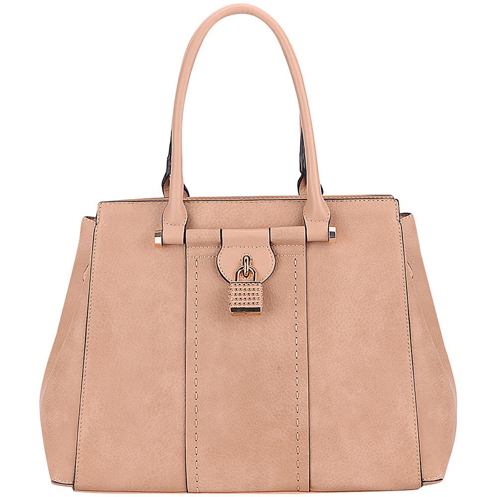 MKF Collection by Mia K. Farrow Tansy Padlock Satchel Apricot - MKF Collection by Mia K. Farrow Manmade Handbags - Handbags, Manmade Handbags