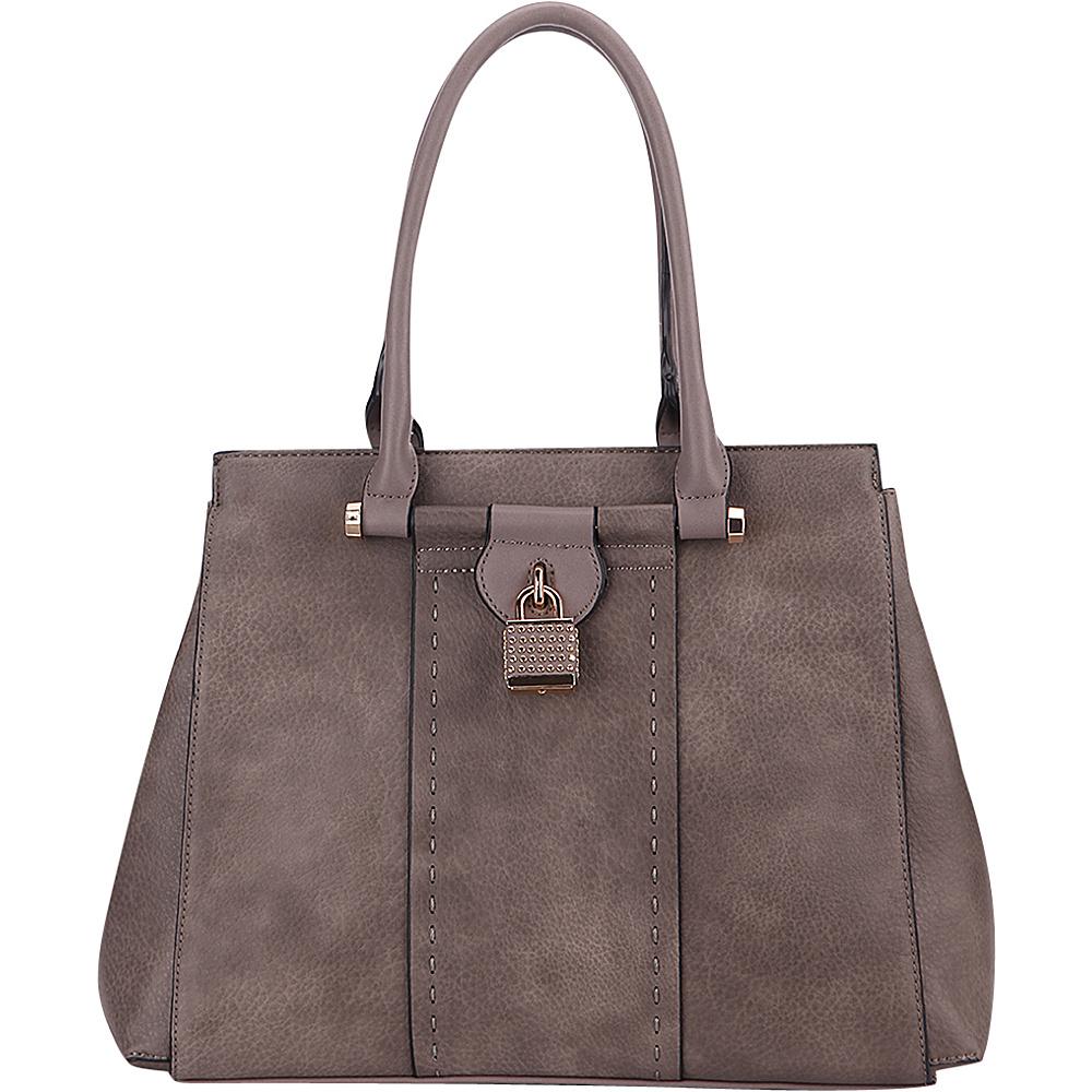 MKF Collection by Mia K. Farrow Tansy Padlock Satchel Khaki - MKF Collection by Mia K. Farrow Manmade Handbags - Handbags, Manmade Handbags