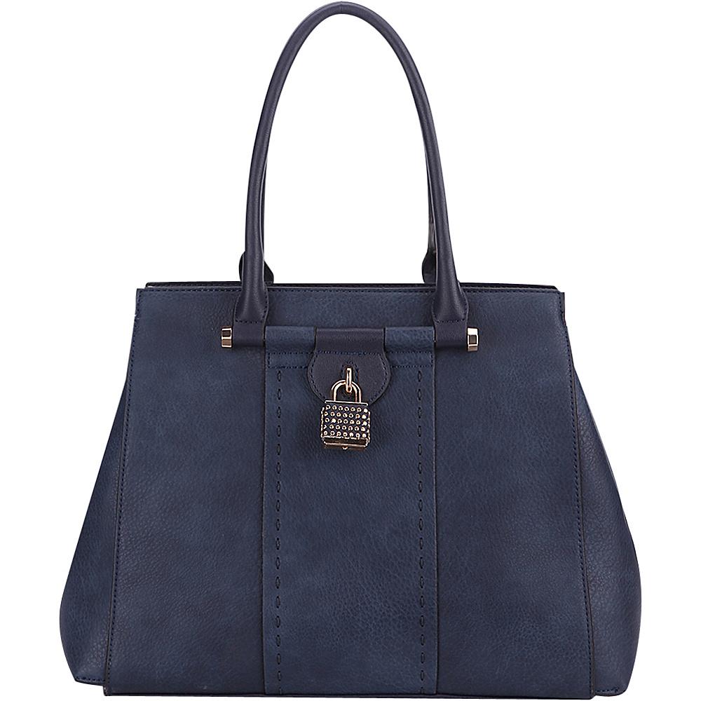 MKF Collection by Mia K. Farrow Tansy Padlock Satchel Navy - MKF Collection by Mia K. Farrow Manmade Handbags - Handbags, Manmade Handbags