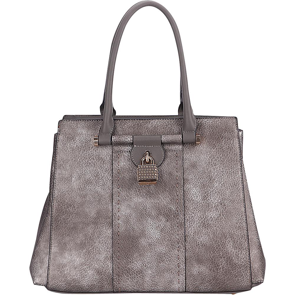 MKF Collection by Mia K. Farrow Tansy Padlock Satchel Pewter - MKF Collection by Mia K. Farrow Manmade Handbags - Handbags, Manmade Handbags
