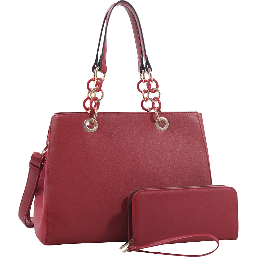 MKF Collection by Mia K. Farrow Heiden Tote and Wallet Set By Mia K. Farrow Red - MKF Collection by Mia K. Farrow Manmade Handbags - Handbags, Manmade Handbags