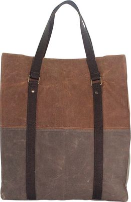 CB Station Waxed Canvas Voyager Tote Khaki & Olive Waxed Canvas - CB Station Fabric Handbags