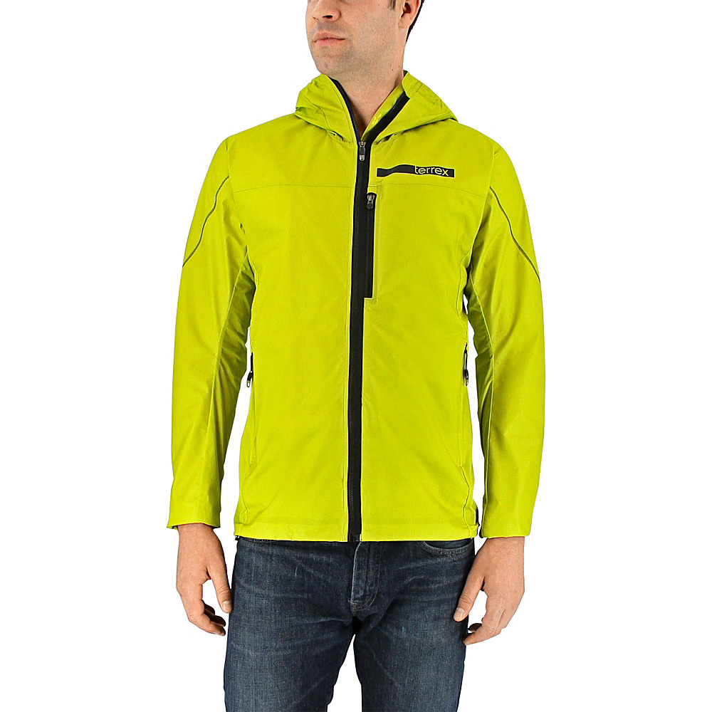 adidas apparel Mens Terrex Agravic Windstopper Hybrid Softshell Hoodie S Unity Lime adidas apparel Men s Apparel