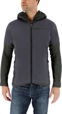 adidas apparel Mens Terrex Climaheat Techrock Hooded Fleece M - Dgh Solid Grey - adidas apparel Men's Apparel