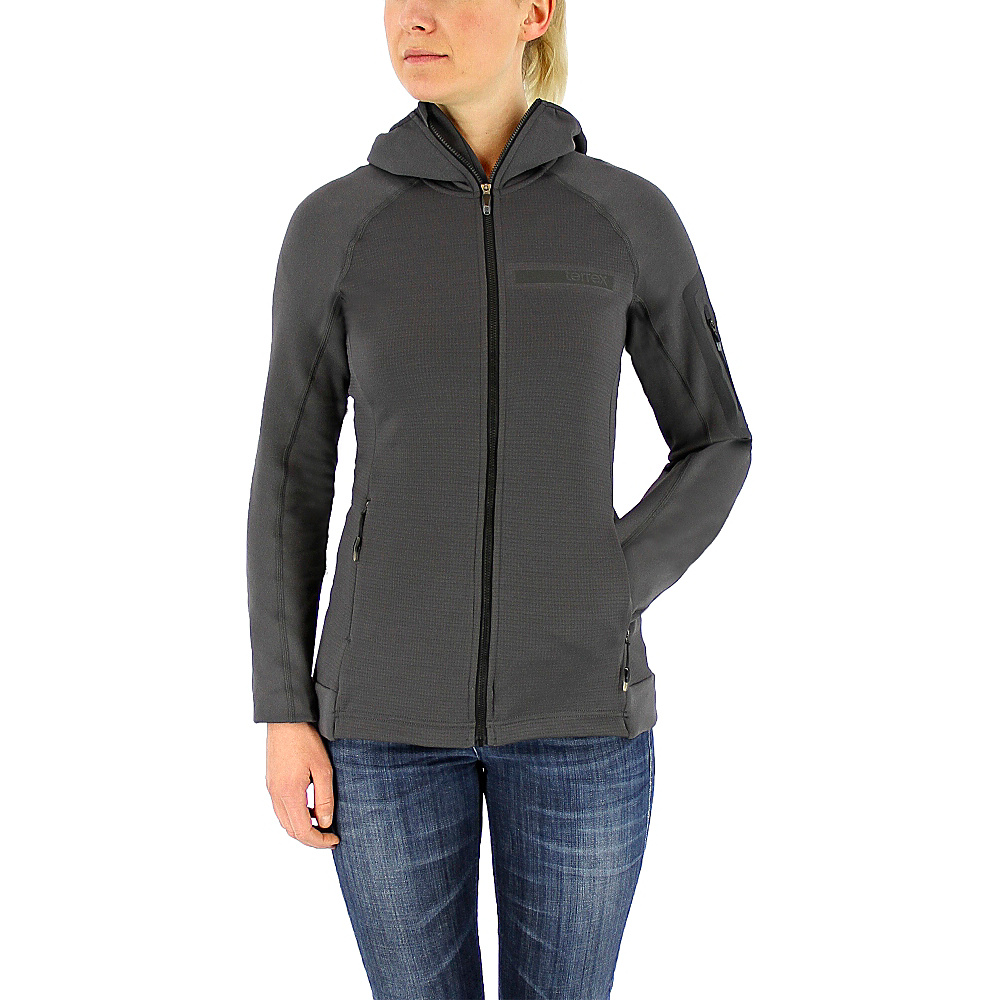 adidas apparel Womens Terrex Stockhorn Hooded Fleece Jacket XS Utility Black adidas apparel Women s Apparel