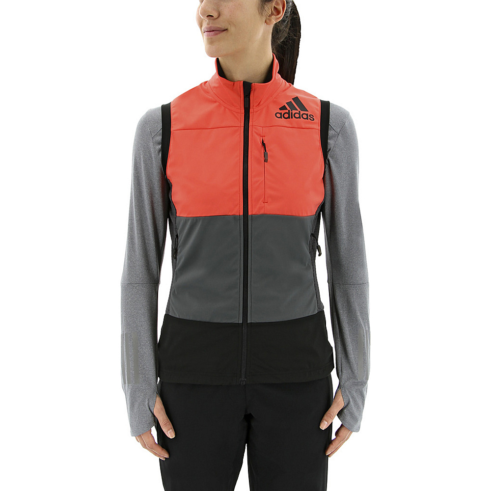 adidas outdoor Womens Xperior Softshell Vest XL - Easy Coral/Grey Five/Black - adidas outdoor Womens Apparel - Apparel & Footwear, Women's Apparel