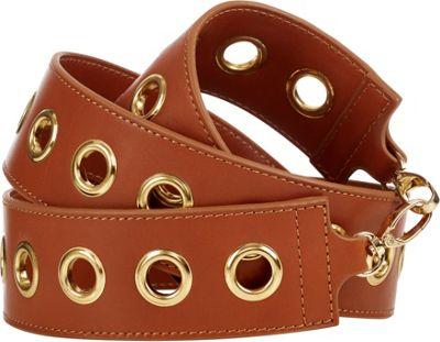 Davey's Guitar Strap Grommets Brown - Davey's Leather Handbags