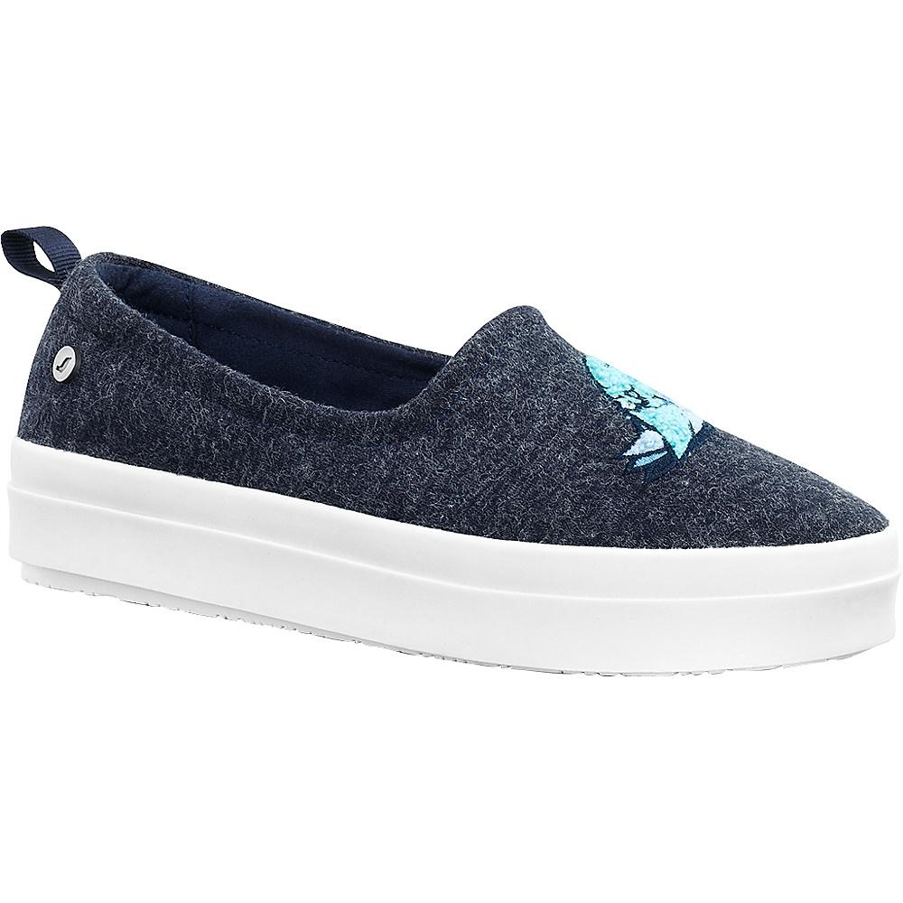 Sakroots Saz Critter Flat Sneaker 6 - Navy Bird - Sakroots Womens Footwear - Apparel & Footwear, Women's Footwear
