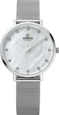 Obaku Watches Womens Mother of Pearl Stainless Steel Watch Silver - Obaku Watches Watches