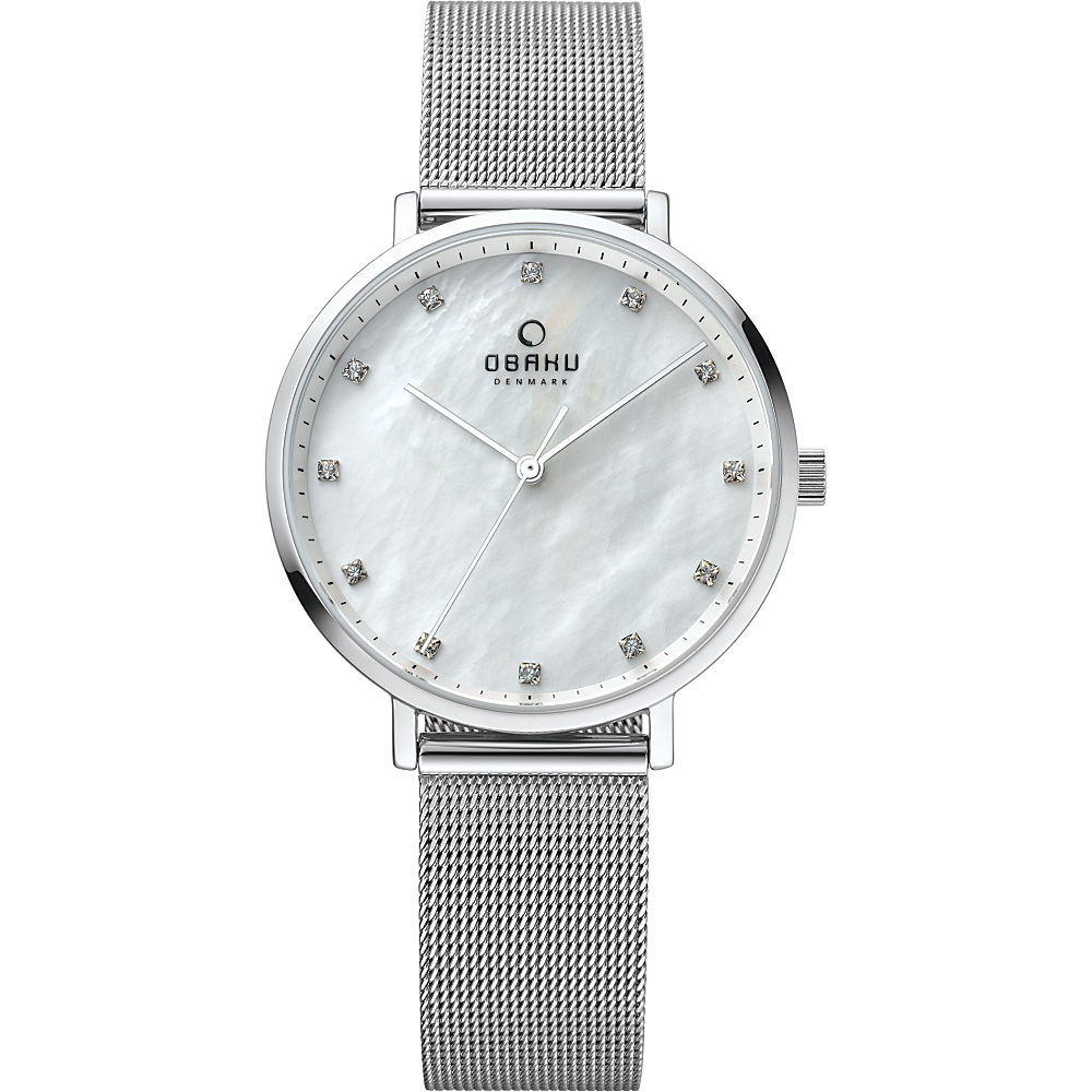 Obaku Watches Womens Mother of Pearl Stainless Steel Watch Silver Obaku Watches Watches