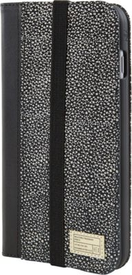 HEX Icon Wallet for iPhone 6 Plus/6S Plus Black/White Stingray - HEX Electronic Cases