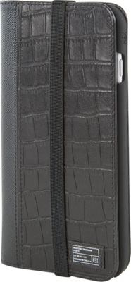 HEX Icon Wallet for iPhone 6 Plus/6S Plus Black Croco Leather - HEX Electronic Cases