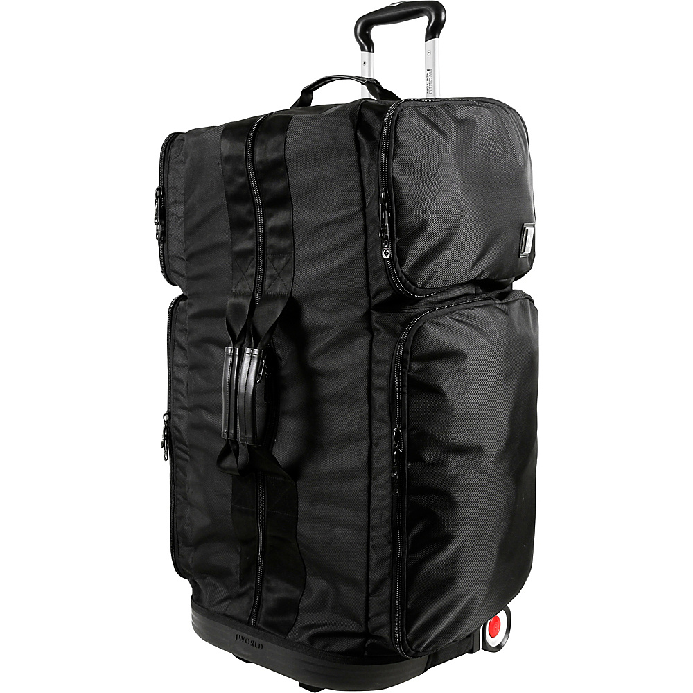 J World New York Ziton 30 inch Stand Up Rolling Duffel Black - J World New York Rolling Duffels - Luggage, Rolling Duffels