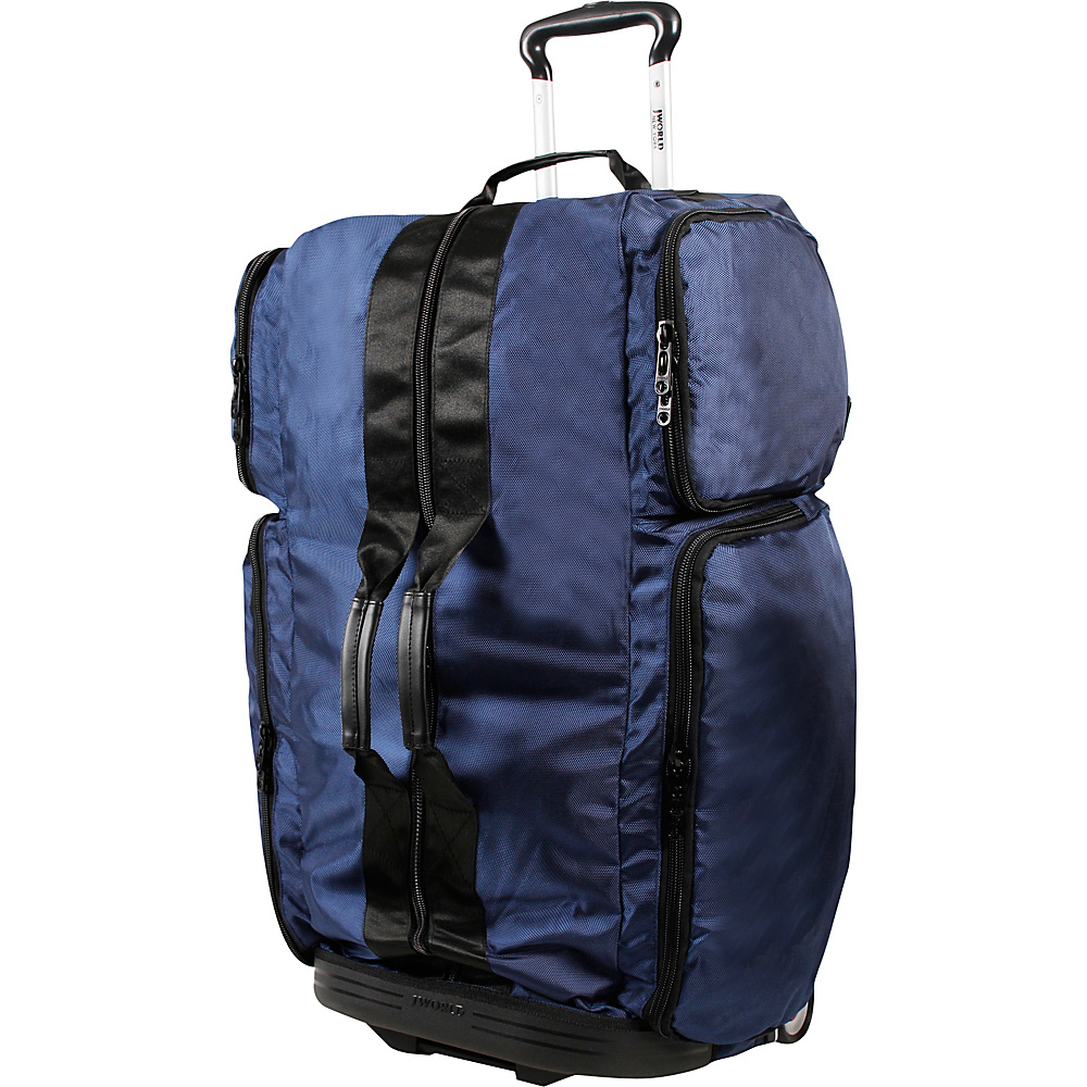 J World New York Ziton 30 inch Stand Up Rolling Duffel Navy - J World New York Rolling Duffels - Luggage, Rolling Duffels