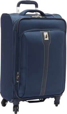 London Fog Knightsbridge Hyperlight 21 inch Expandable Spinner Carry On Navy - London Fog Softside Carry-On